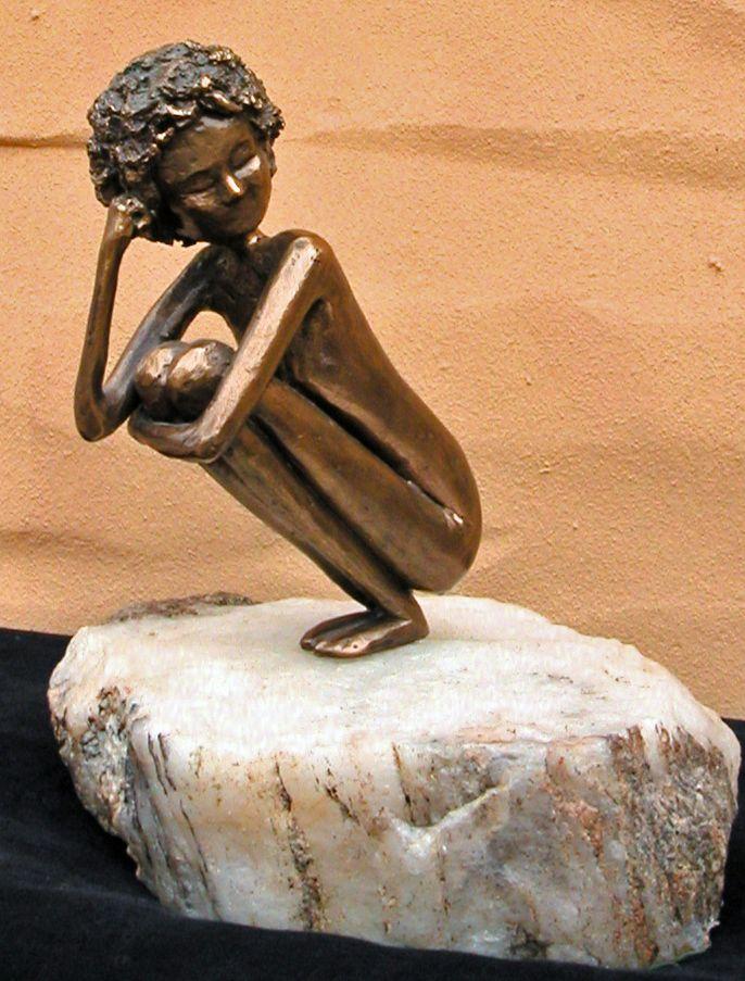 Bronze on quartz