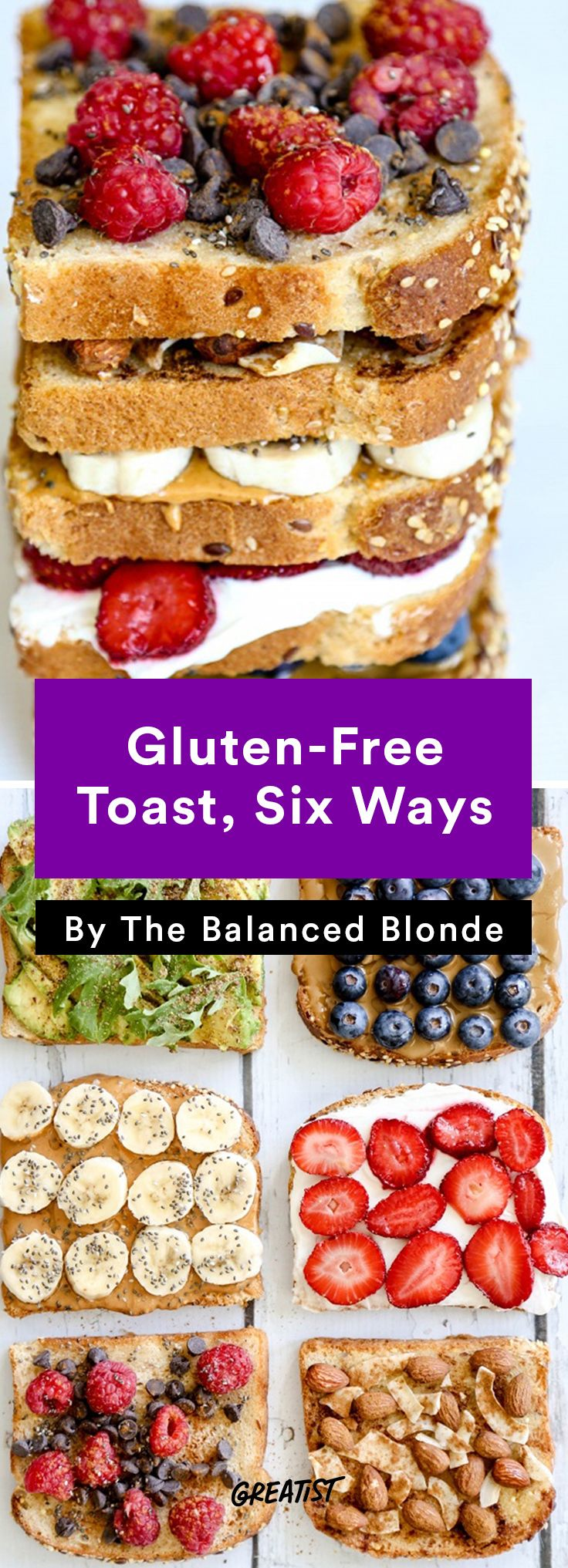 1. Gluten-Free Toast, Six Ways #healthy #breakfast #recipes http://greatist.com/eat/healthy-breakfast-recipes-that-keep-you-full