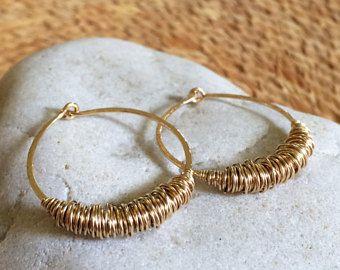 Small Gold Hammered Hoops Sleeper Earrings Huggie Hoops 14k Gold Fill Hoops Texture Hoops Wire Jewelry Rustic Hoops