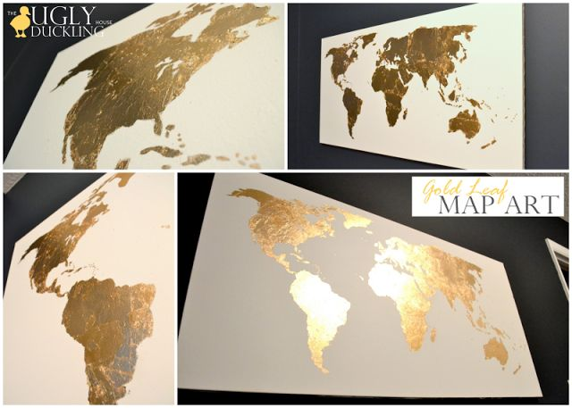 With just a few simple steps, this blogger created a one-of-a-kind piece of map art using gold leaf. Love it!