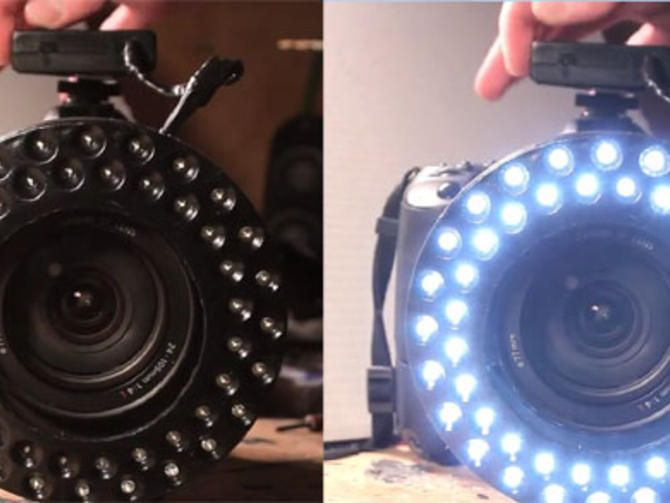 Continuous ring lights usually cost at least a few hundred dollars, but one resourceful videographer made his own for a relative pittance.