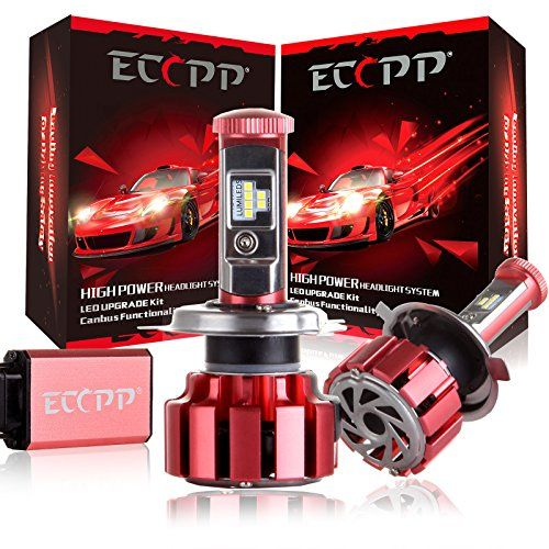 LED HeadlightsECCPP Upgraded LED Headlight Bulbs Jeep Wrangler Headlight Conversion Kit Non HID Headlamp 90W 11000Lm CREE Xenon White Fog Light CANBUS H49003 * Details can be found by clicking on the image. (This is an affiliate link and I receive a commission for the sales)