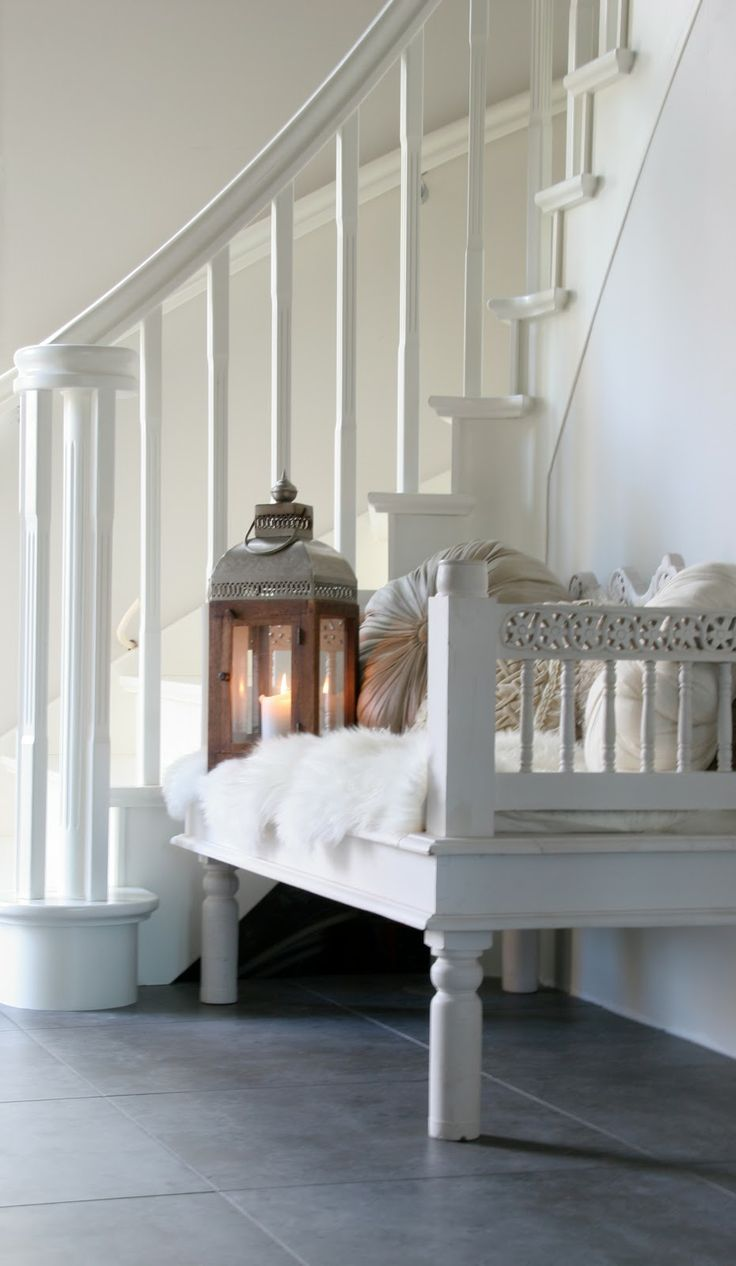 Lanterns to contrast rustic warmth with clean sophistication.