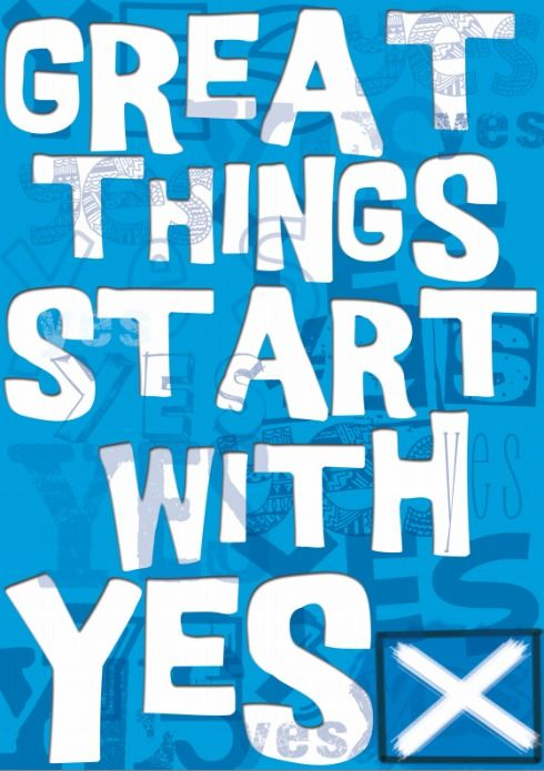 "'Glasgow University for Yes' has begun its campaign on campus under the ""Great things start with Yes"" banner."