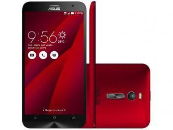 """Smartphone Asus ZenFone 2 32GB Vermelho Dual Chip - 4G Câm. 13MP + Selfie 5MP 5.5"""" Full HD Quad Core"""
