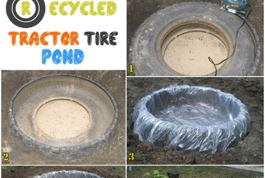 Reciclado de Neumáticos Tractor Pond