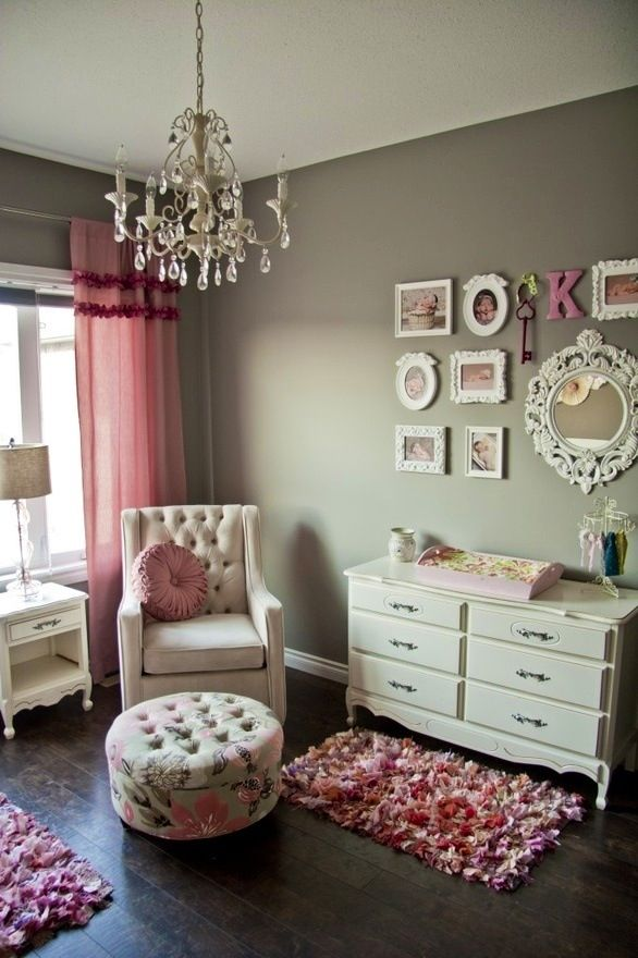 baby room ideas #gray #pink #girl