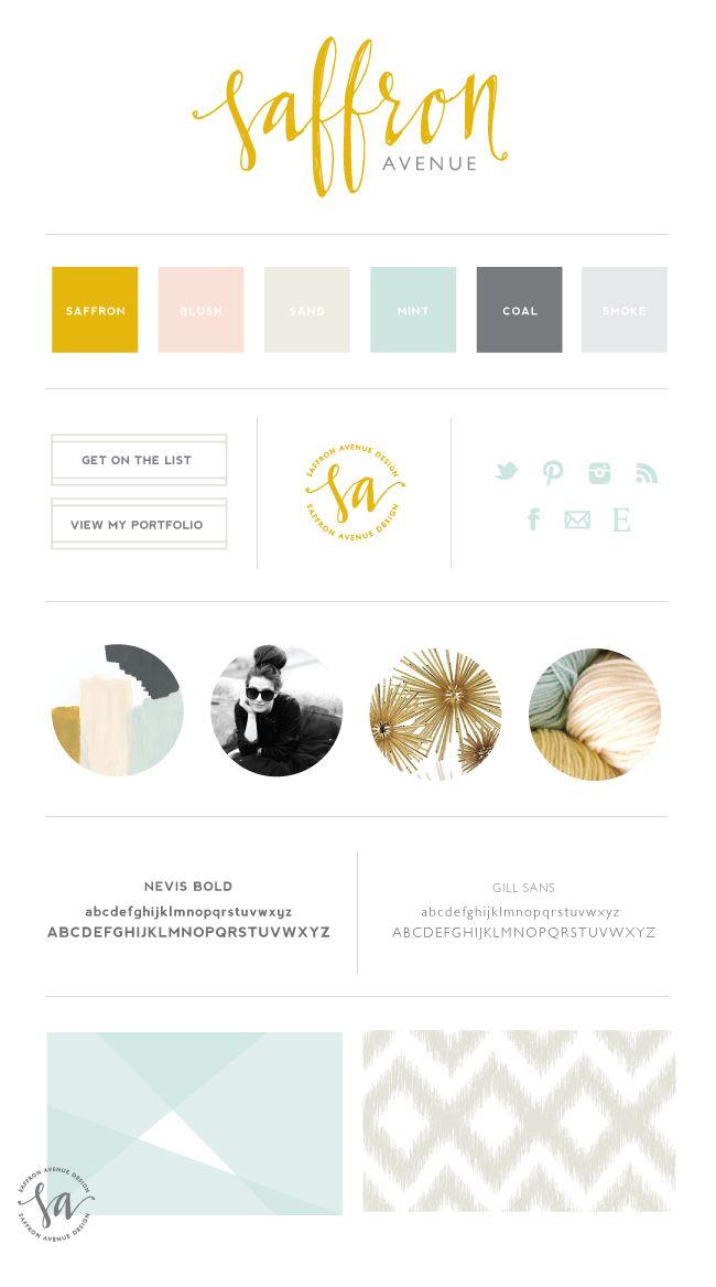 Saffron Avenue - Brand Board