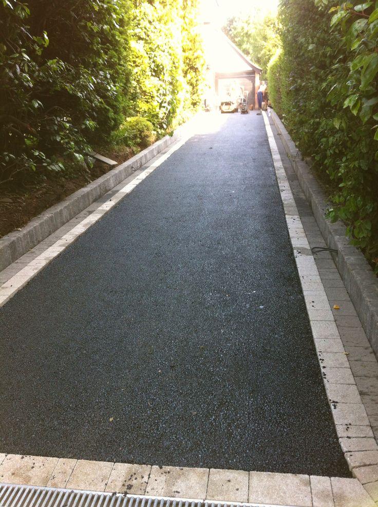 Pin strip around the edge of the Tarmac drive