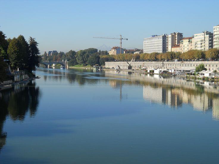 Il Po da ponte Vittorio Emanuele I