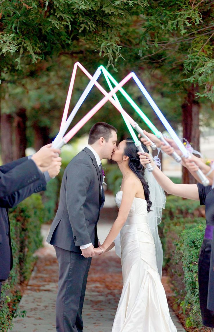 'Star Wars' Wedding Ideas Perfect for May the Fourth | Photo by: Juniper Spring Photography | TheKnot.com