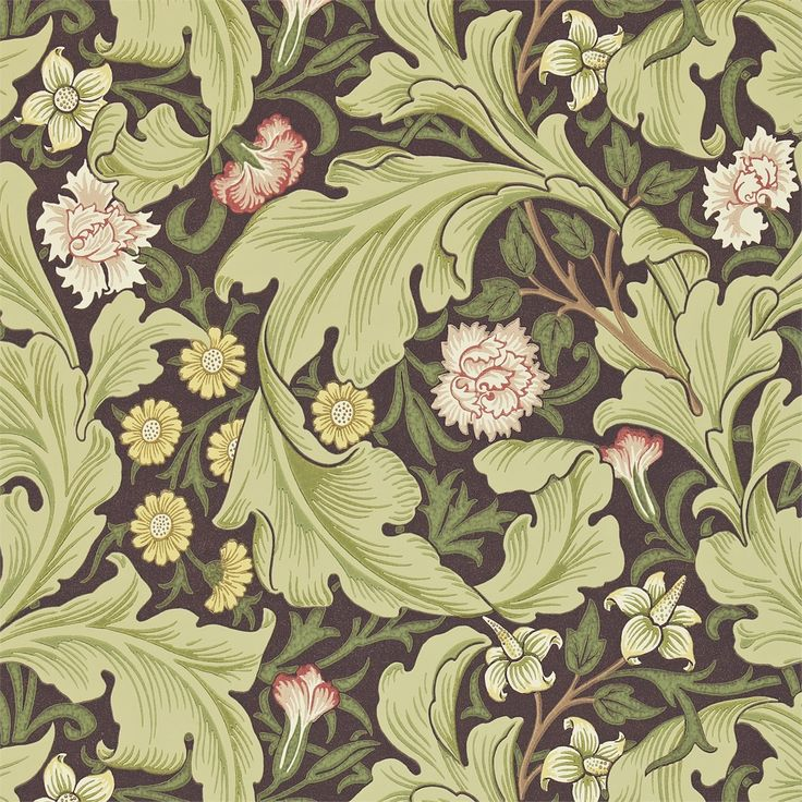 The Original Morris & Co - Arts and crafts, fabrics and wallpaper designs by William Morris & Company | Products | British/UK Fabrics and Wallpapers | Leicester (DARW212542) | Morris Archive Wallpapers II