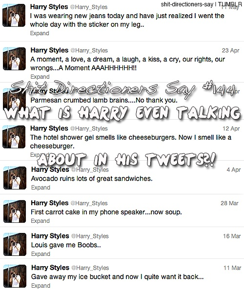 He's so random but I love himShit Directioners, Harry Style