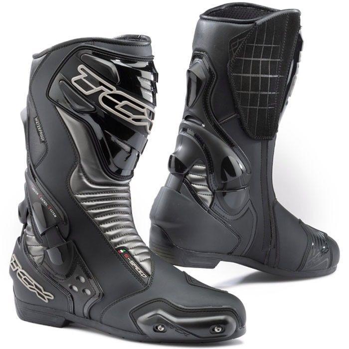 TCX Men's Black S-Speed WP Motorcycle Boots