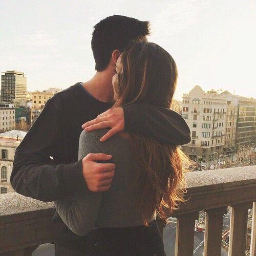 Immagine di love, couple, and hug