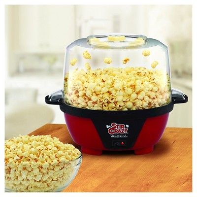 West Bend Stir Crazy Popcorn Maker Machine, Black