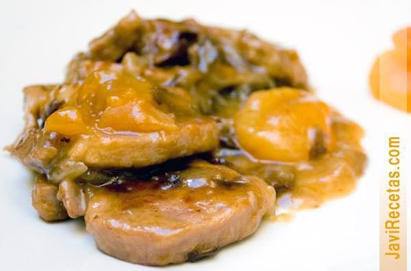 Medallones de solomillo en salsa cibrandy carne - Carne con ciruelas pasas ...
