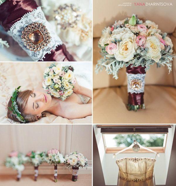 букет невесты рустик #rustic #flowers #wedding
