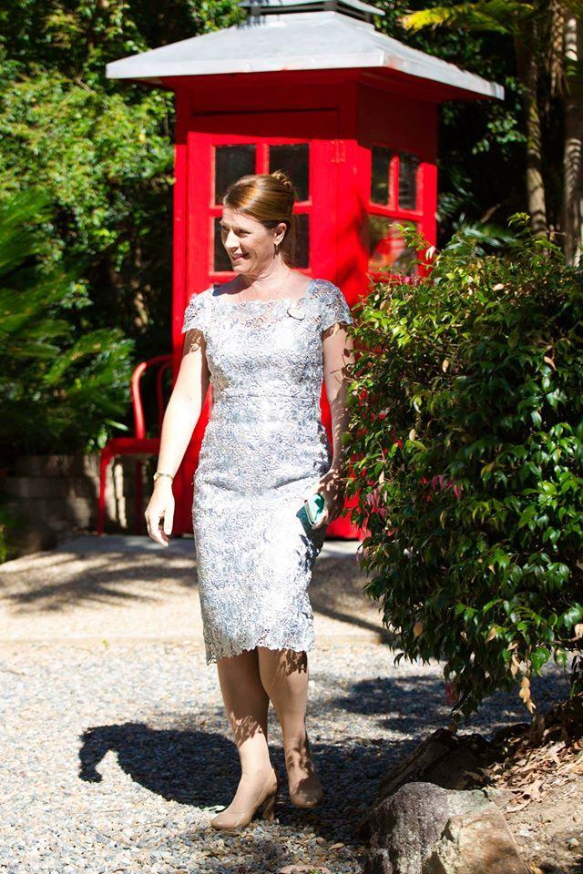 Anthea Crawford dress - at Macarthur Park Wedding Gardens, Alexandra Hills.