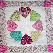 This would make an adorable little girls quilt.