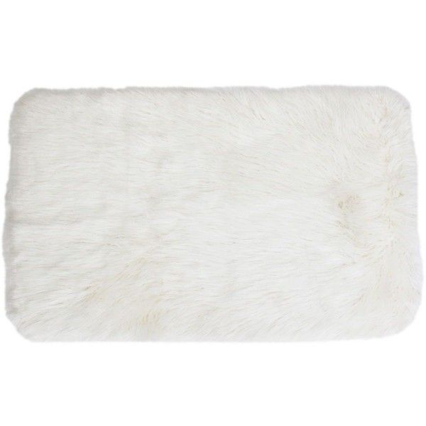 thro by marlo lorenz keller mongolian faux fur rug vnd liked on polyvore featuring home rugs white flat weave rugs white flat woven rug