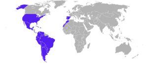 Aquí aparecen los países que participan en la exposición Iberoamericana del 29'