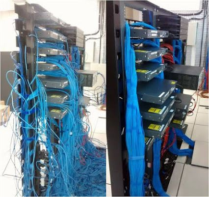 Before And After Cabling From The Cisco Networking Team