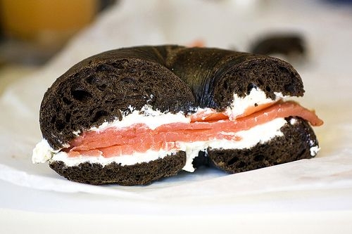 Pumpernickel Bagel with Lox and Cream Cheese, Yes Please!