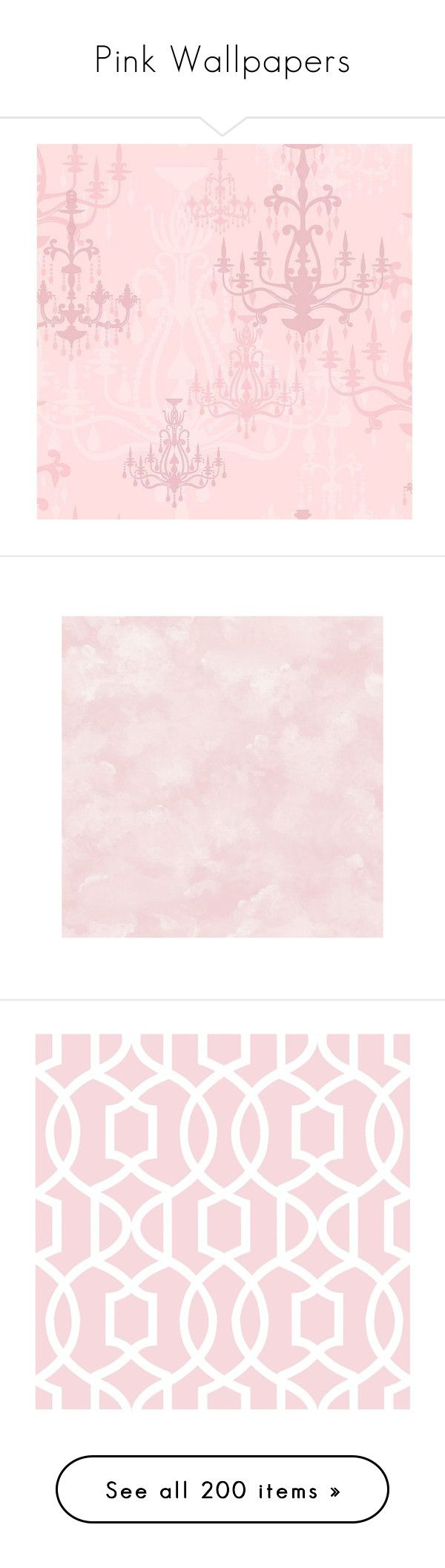 """Pink Wallpapers"" by lailoooo ❤ liked on Polyvore featuring home, home decor, wallpaper, backgrounds, borders, picture frame, peelable wallpaper, removable wallpaper, light purple wallpaper and border wallpaper"