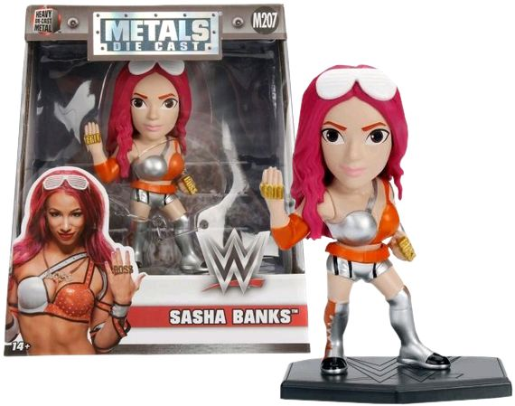 "WWE - Sasha Banks 4"" Metals Die-Cast Action Figure by Jada Toys"