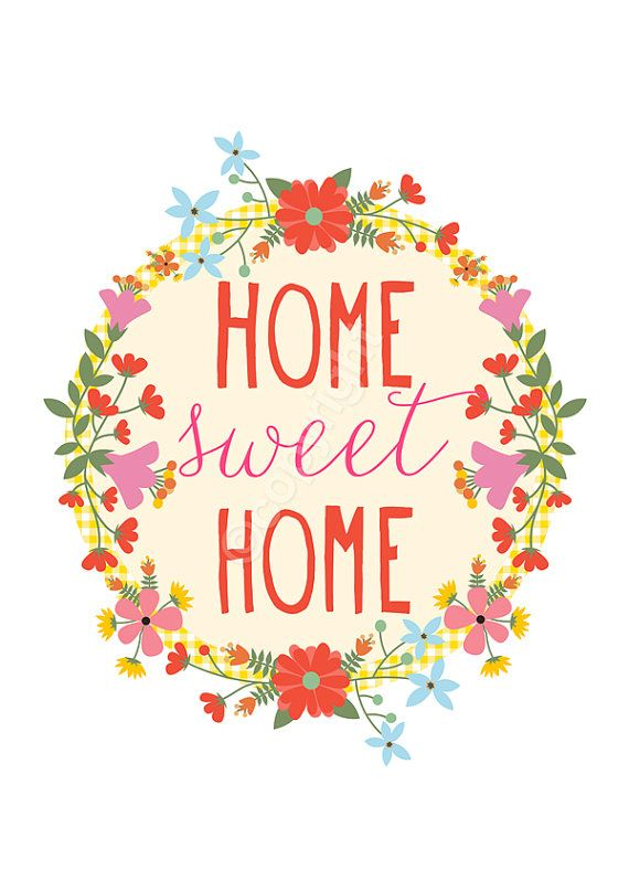 Home Sweet Home - 8x10 inch print by HelloLittleFox on Etsy