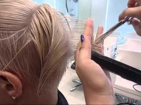 Женская стрижка. Paul Mitchell. Короткие волосы. - YouTube