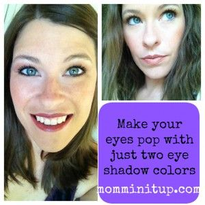 2-minute tutorial: How to #doyourmakeup: Beautiful eyes using two eye shadow colors -Mommin' It Up!