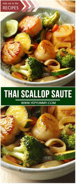 Thai Scallop Saute Recipe in 2020 Asian recipes, Fresh
