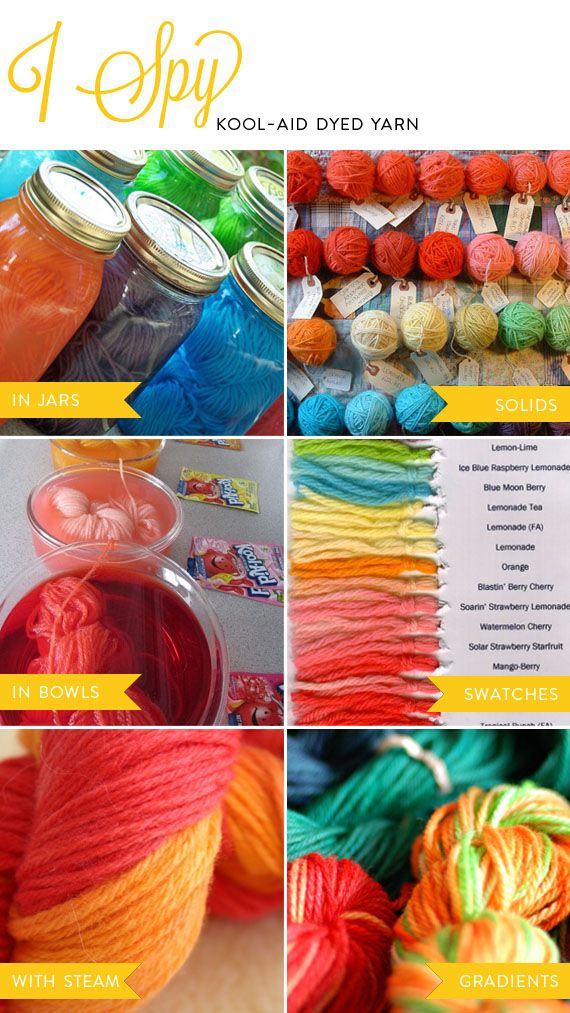 More Kool Aid Dye ideas- sources on the original page.