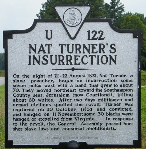 "Nat Turner Slave Revolt 1831 | ... Black History: August 21, 1831 ""Nat Turner Led A Slave Rebellion"