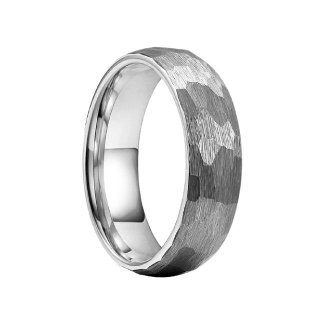 Mens Hammered Wedding Band Tungsten 8mm Hammered Wedding Bands Mens Wedding Bands Hammered Tungsten Wedding Bands