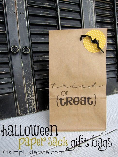 Trick or treat bags - print on them with you printer, then embellish!