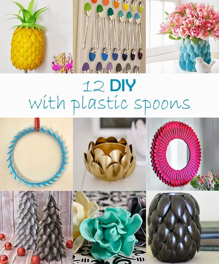 17 best images about diy used plastic spoon on pinterest for Best out of waste ideas from plastic spoons