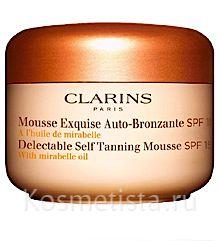 Мусс для искусственного загара лица и тела с SPF15 Clarins Delectable Self Tanning Mousse With Mirabelle Oil SPF 15