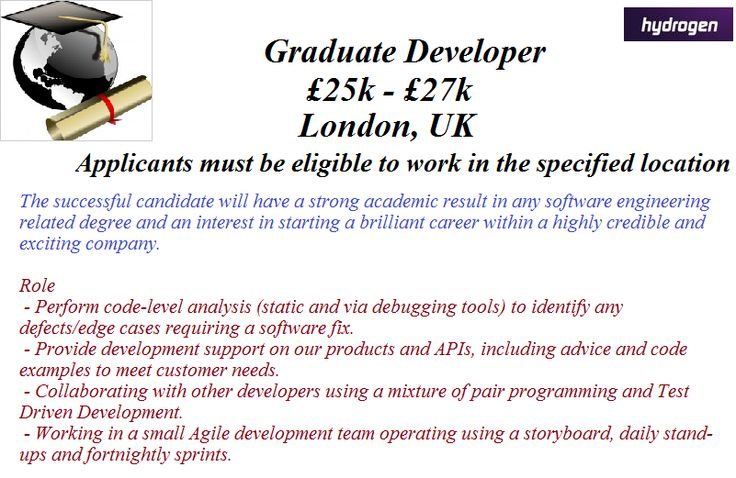 Check out this Graduate Developer Job based in London