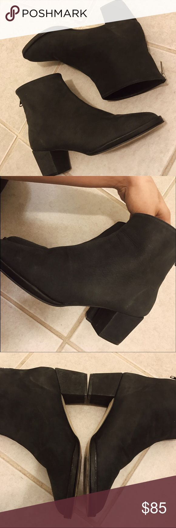 $150 AMERICAN APPAREL LEATHER ANKLE BOOTS GENUINE LEATHER // SZ 8 // PREVIOUSLY LOVED // GOOD CONDITION // MINOR SCUFFS SHOWN IN PHOTOS // PRICE FIRM // MADE IN USA // CLOSET STAPLE American Apparel Shoes Ankle Boots & Booties