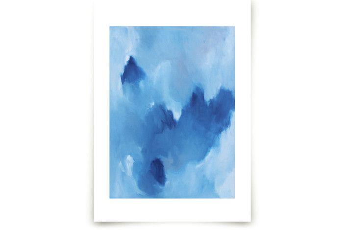 Blue Drift Wall Art Prints by Megan Kelley at minted.com