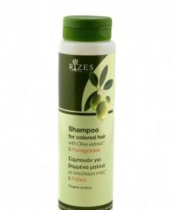 Rizes Crete Shampoo For Colored Hair With Olive & Pomegranate
