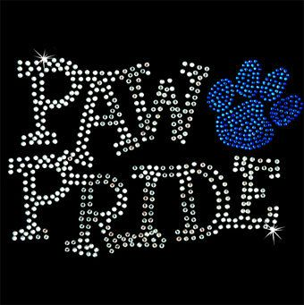 Hey, I found this really awesome Etsy listing at http://www.etsy.com/listing/114671254/paw-pride-rhinestone-shirt-cobalt-blue