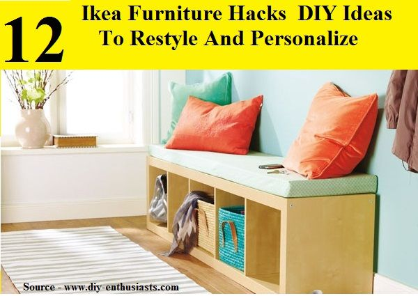 12 ikea furniture diy hacks and ideas to restyle your home for more creative tips and ideas. Black Bedroom Furniture Sets. Home Design Ideas