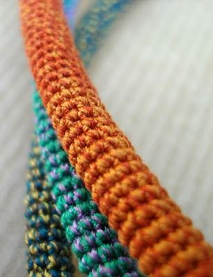 sewing thread crochet tubes (similar to what I do with bead crochet, methinks...)