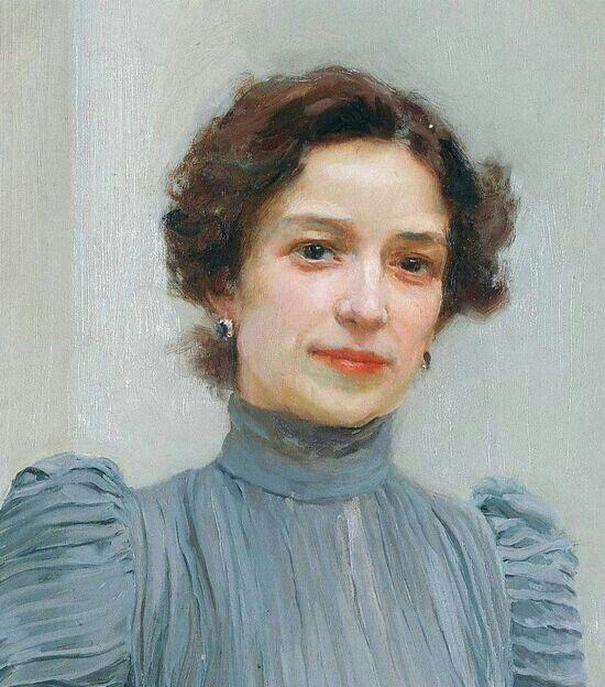 Joaquin Sorolla y Bastida - Clotilde de Sorolla, el Museo de Bellas Artes de Valencia (detail)