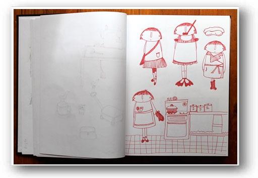 sketch book - aunty cookieAunty Cookies, Sketchbooks Journe