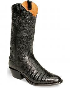 Tony Lama Signature Series Caiman Western Boots - Medium Toe